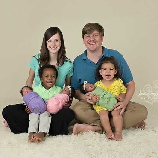 This couple enjoys time with their children, born via embryo adoption through the National Embryo Donation Center.