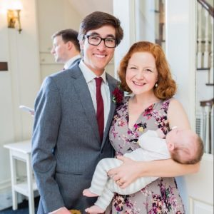 Embryo adoption parents Clare and William Berlin with their son Silas.