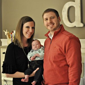 Embryo adoption parents Nicole and Jordan Terry with their son, Davis.