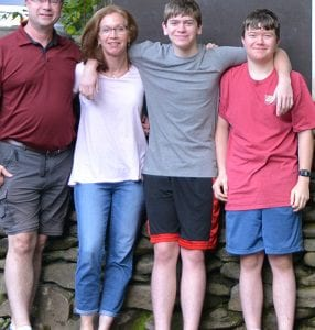 Randy amd Marie Johnson with their sons. The Johnsons donated their remaining embryos for embryo adoption.