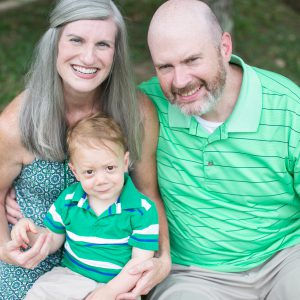 Embryo adoption parents Chad and Melissa Cowan with their son Landry.