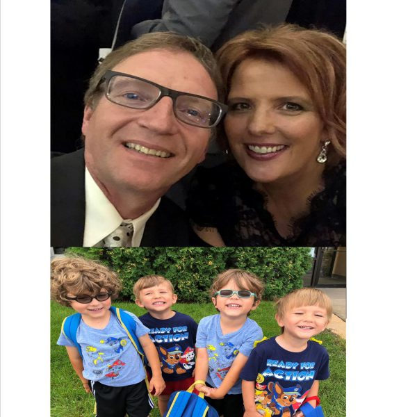 Embryo adoption parents Jim and Julia Herzing and their children.