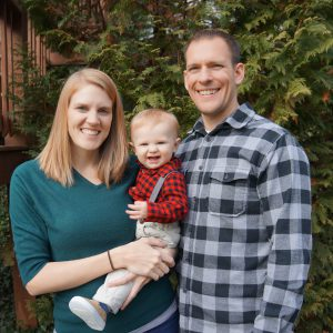 Embryo adoption parents Michael and Lucy Fatula with their son Abraham.