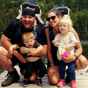 Embryo adoption parents Nolan and Christine Southard with their children, Felicity and Knox.