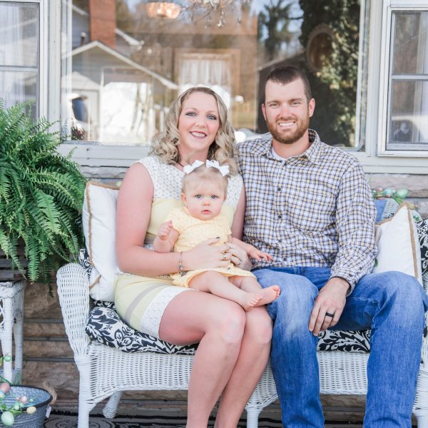 Embryo adoption parents Dustin and Christina Diden with their daughter Rylee.