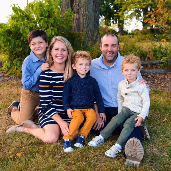 Embryo adoption parents Chris and Lisa Weaver with their children.